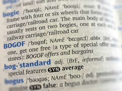 BOGOF dictionary entry