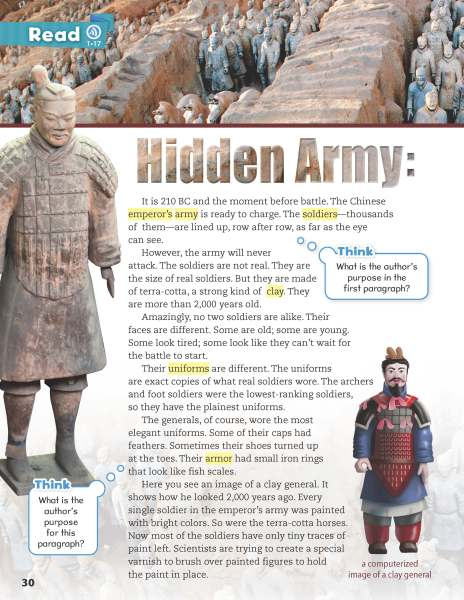 Hidden Army - a page from Oxford Discover 4