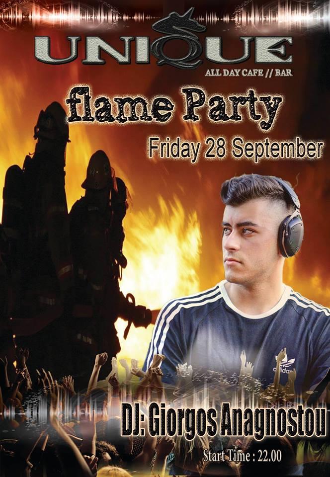 Flame party στο Unique bar στην Πτολεμαΐδα, την Παρασκευή 28 Σεπτεμβρίου