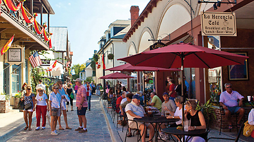 Aviles Street with outdoor cafe