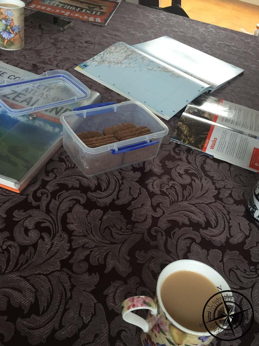 Spekulatiuskekse & Tee in der Unterkunft