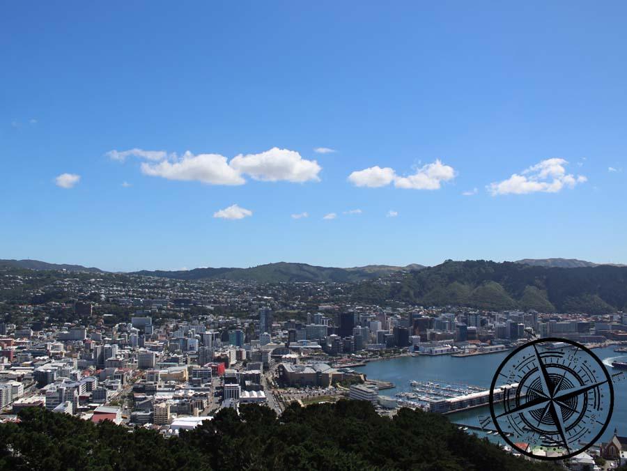 Sicht vom Mt. Victoria zur Stadt
