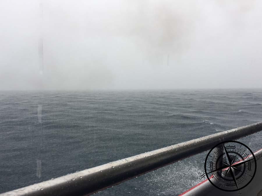 Unsere Überfahrt war diesmal regnerischer