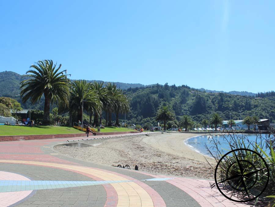 Der Park und Strand von Picton