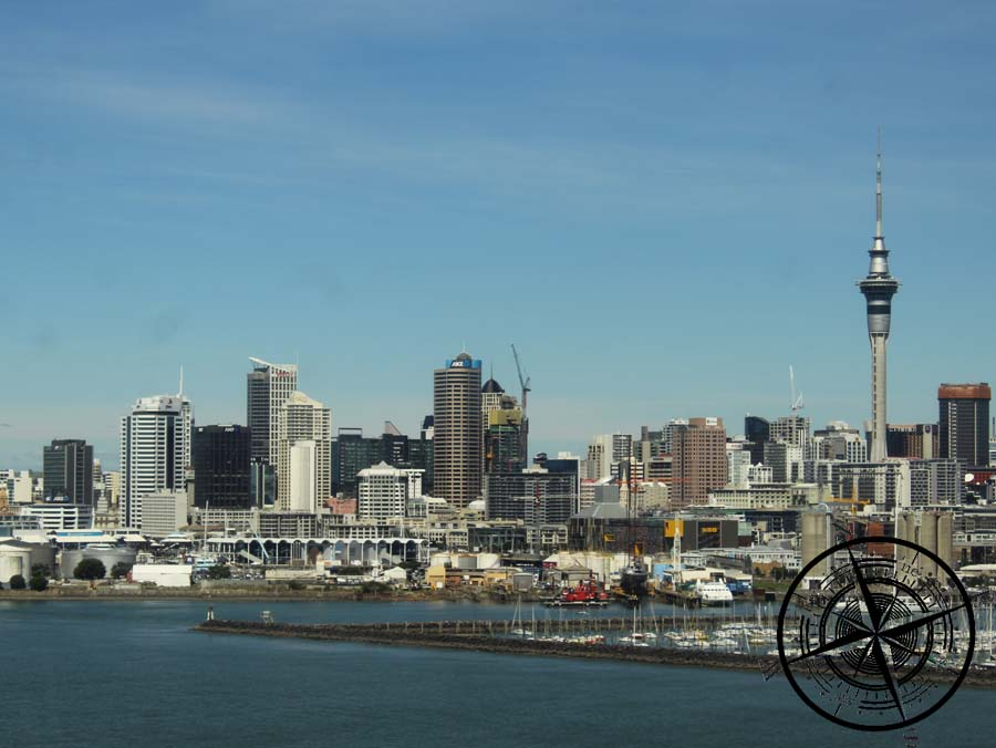 Blick auf die Auckland Skyline