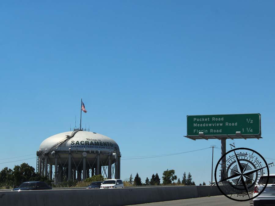 Sacramento ist eine der größeren Städte auf unserer Durchfahrt