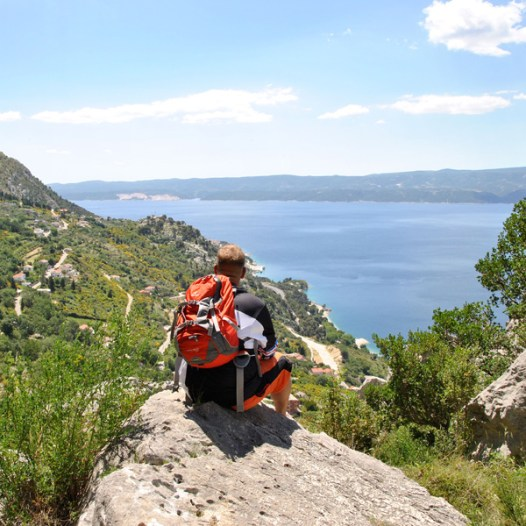 Grandiose Aussicht auf Omis in Kroatien