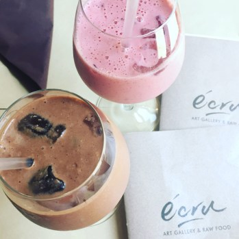 "Smoothies aus dem ""écru – Art Gallery & Raw Food"" in Rom/Italien"