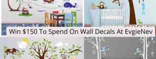 $150 Credit To EvgieNev Wall Decals #Giveaway