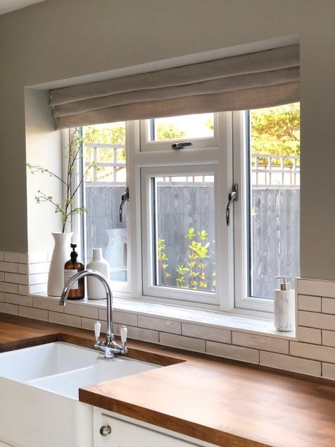 Roman Blind using Sanderson fabric from Style Library