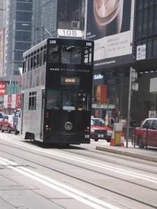 Trams on Hong Kong Island