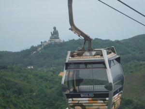 The Big Buddha from the Cable Cars