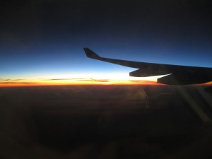Sunrise from our Qantas flight