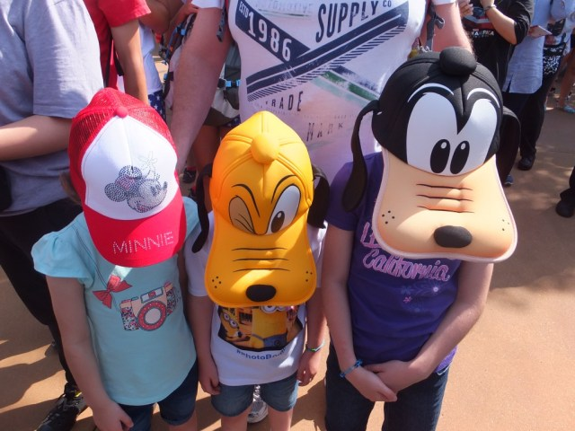 Got our new Disney hats so we are ready to go!