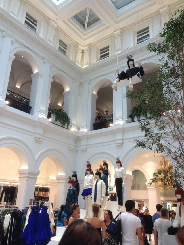 The new H&M in the old Melbourne GPO building.