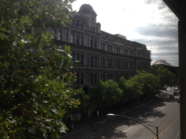 View from our window onto Spencer Street