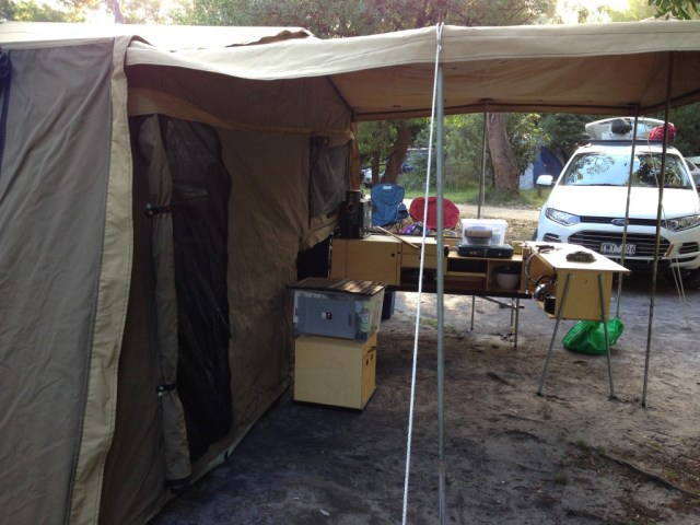 Drifta Kitchen with our camper