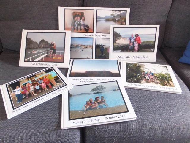 A small sample of the photo books I have made!