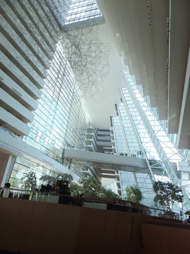 The entrance foyer, Marina Bay Sands