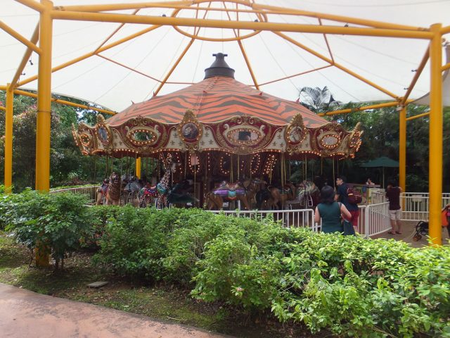 Kids carousel, pay per ride Singapore Zoo