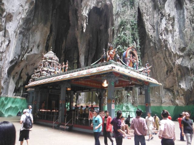 The Hindu Shrine inside Batu Cave