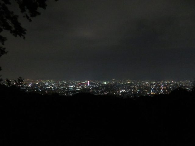 The view from the Higashiyama lookout.