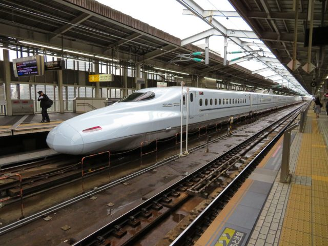 Shinkansen aka Bullet train. These things move at up to 435kms per hour!