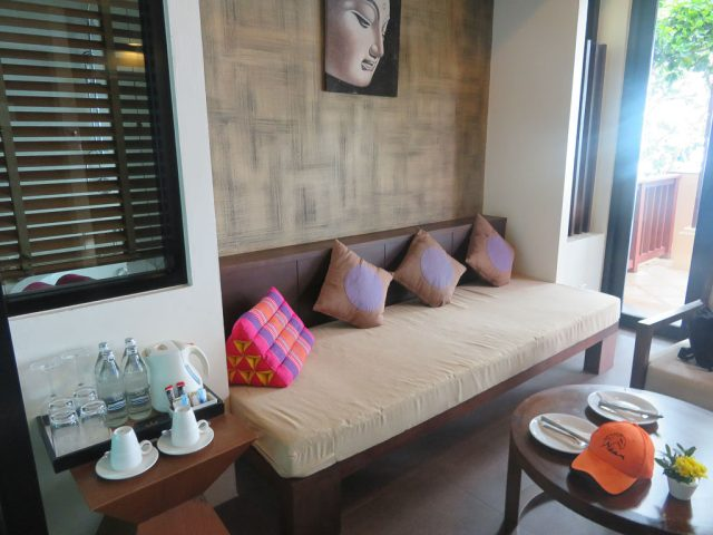 Our sitting room which opened on to the plunge pool