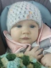 Lena covered in crochet I made!