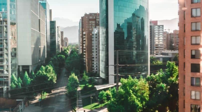 las condes santiago chile skyscrapers