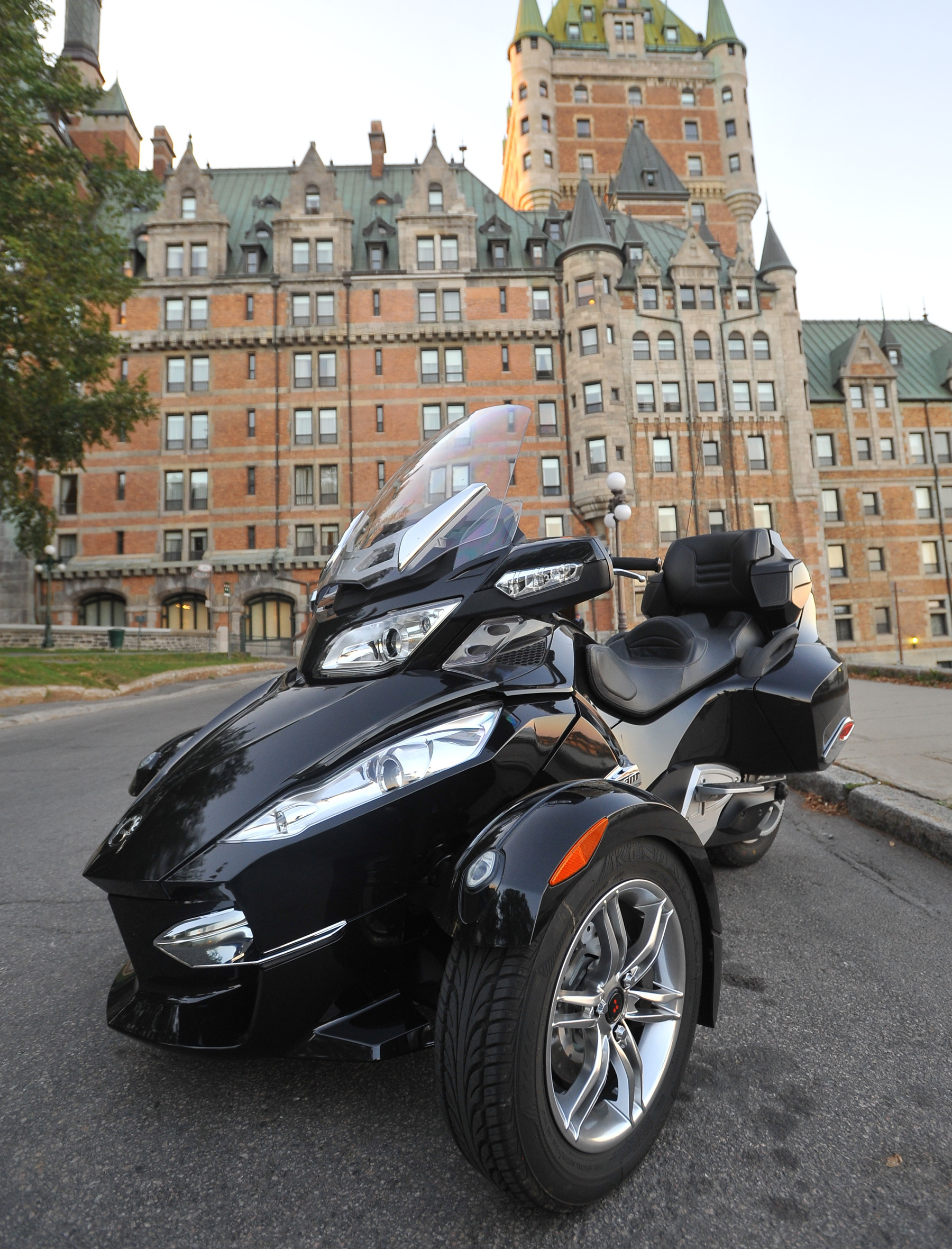 What is brp s can am spyder is it a motorcycle no is it a trike guess again trikes have three wheels but their two wheels are in the rear
