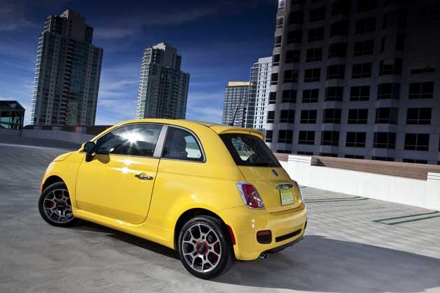 2013 Fiat 500 Turbo side