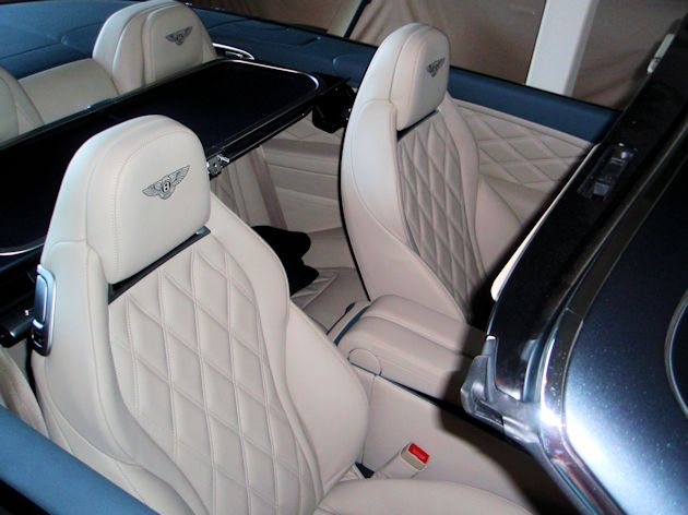 2014 Bentley Continental GTC seats