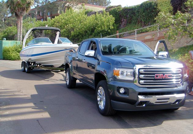 2015 General Motors Canyon towing