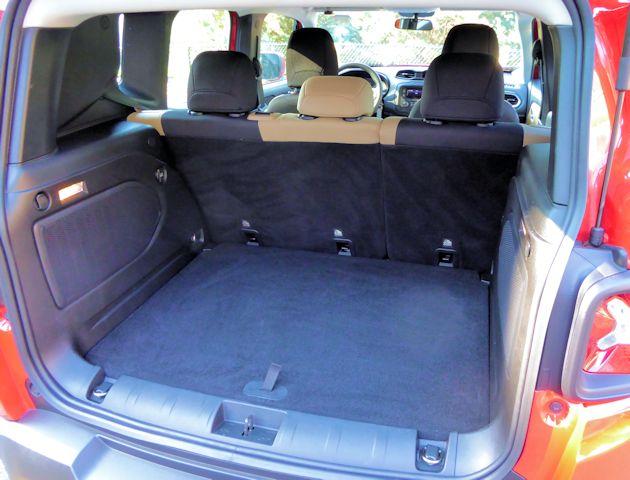 2015 Jeep Renegade cargo