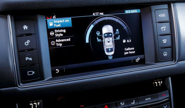 2016 Jaguar XF screen