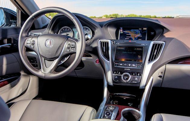 2016 Acura TLX dash