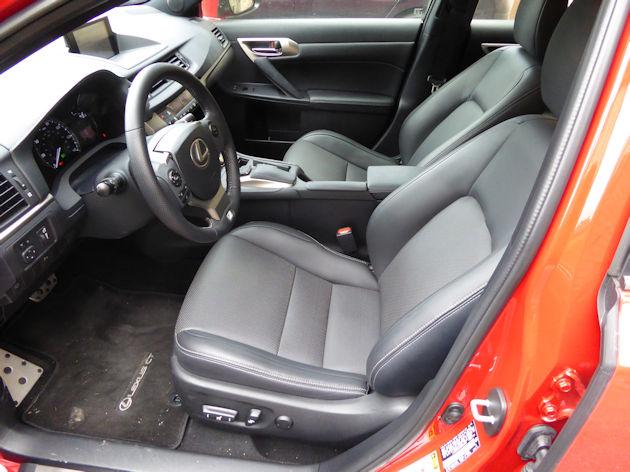 2016 Lexus CT 200h interior