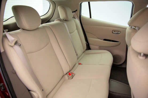 2016 Nissan Leaf rear seat