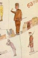 οι ανθρωπότυποι της εποχης: ο αστός, ο εμπορος, ο μπολσεβίκος εργάτης και ο ερυθροφρουρός