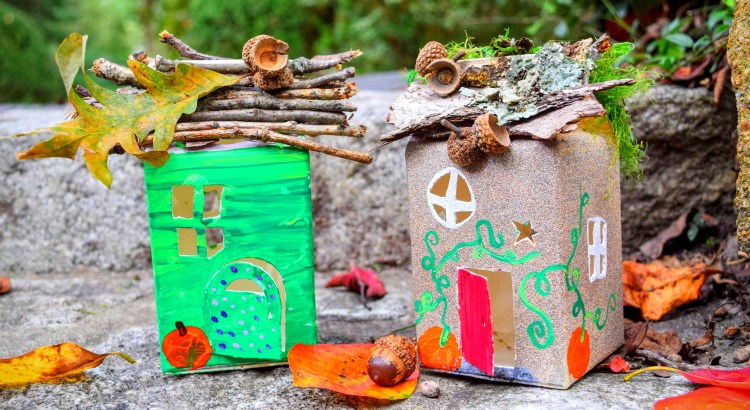 Milk Carton Fairy Houses – Our Beautifully Messy House