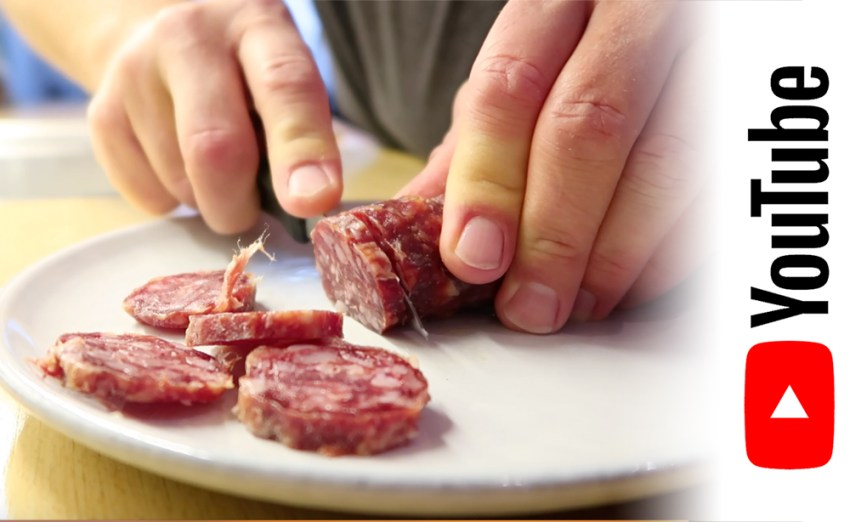 How to unwrap salami to remove the casing quickly and easily.