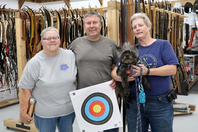 Chris with Sharon, Becky and Gigi.