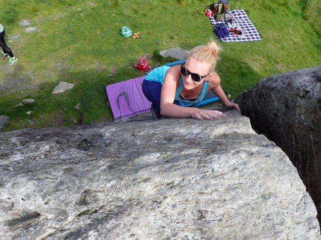 Beth - warming up on the slab