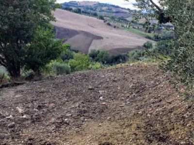 Across a Land Terrace at a new building site in Le Marche, Italy
