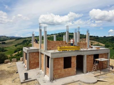 Casa Avventura Today, a new house being built in Le Marche