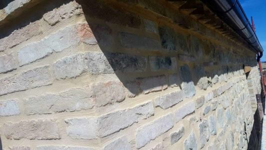 Front Side Pointing Done of a new house being built in Le Marche