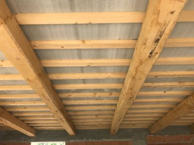 Main Room Ceiling of a new house being built in Le Marche, Italy