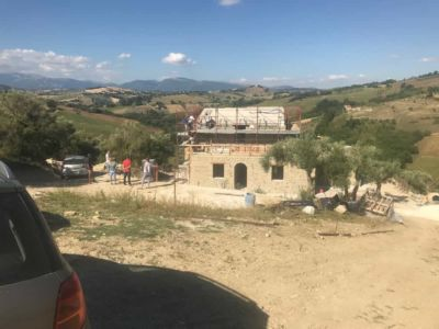 Our First View of our new house under construction in Le Marche