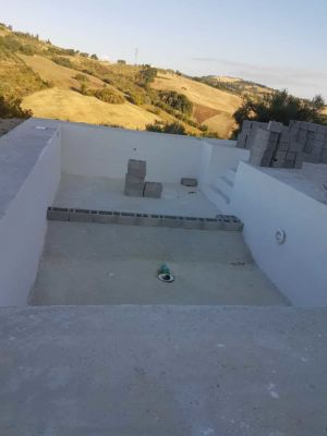 Starting to Prepare New Base for pool at new house in Le Marche